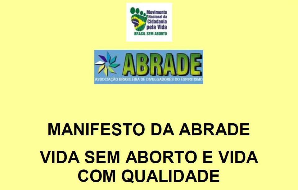 ABRADE divulga Manifesto sobre o Aborto